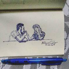"""95 curtidas, 1 comentários - Autoria: @altillierme_carlo (@desenhos_do_alti) no Instagram: """"Gestos ❤  #desenhosdoalti #desenhos #sketch #sketchers #sketchbook #art #artlovers #artbrazil…"""""""