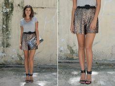 diy sequin shortss