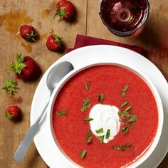 Strawberry Soup, Curried Halibut, Blackberry Barbecued Port Ribs, and other berry recipes