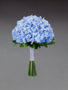 Sweet blue hydrangea bridal bouquet from Vera Wang at Interflora
