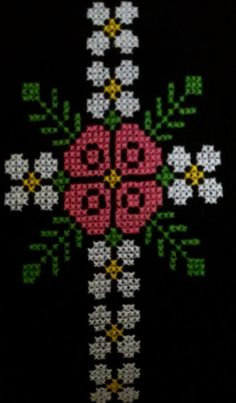 This Pin was discovered by Yen Cross Stitch Borders, Cross Stitch Designs, Cross Stitch Patterns, Cross Stitch Embroidery, Embroidery Patterns, Hand Embroidery, Easy Crochet Patterns, Baby Knitting Patterns, Palestinian Embroidery