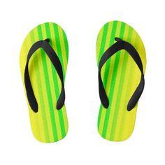 Lemon and Lime Gradient Stripes Kid& Flip Flops Girls Flip Flops, Beach Flip Flops, Chart Design, Lemon Yellow, Beach Fun, Flipping, Kids Fashion, Lime, Stripes