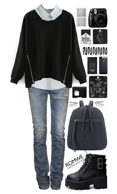 """""""Romwe  9"""" by scarlett-morwenna ❤ liked on Polyvore featuring Balmain, Topshop, NARS Cosmetics, Tom Ford, Holga and BOBBY"""
