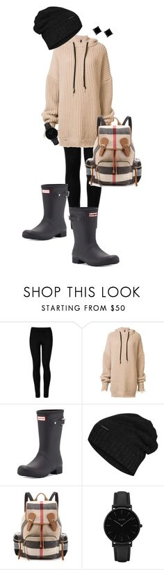 """Study Buddy"" by ccoss on Polyvore featuring Wolford, Unravel, Hunter, The North Face, Burberry and CLUSE"