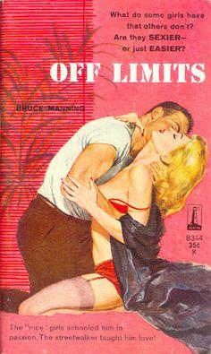"""Off Limits""   Vintage Pulp Fiction Paperback Book Cover Art"