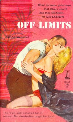"""Off Limits"" | Vintage Pulp Fiction Paperback Book Cover Art"