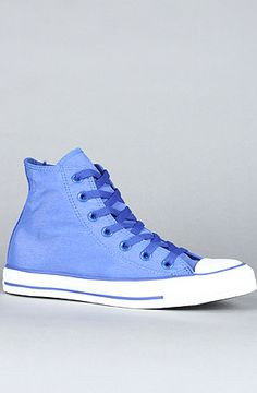 The Chuck Taylor All Star Heathered Nylon Hi Sneaker in Dazzling Blue by Converse