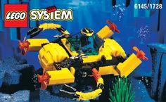 Lego AQUA AMPHIBIAN CRAFT 6145 - Aqua Amphibian Craft 6145 Building Instr. 6145/1728 In - 1