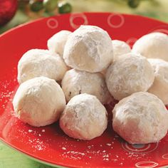 Cherry-Almond Balls Recipe   Taste of Home Recipes No Bake Cookies, Brownie Cookies, Cake Cookies, Cupcakes, Petits Fours, Mousse Cake, Fudge, Christmas Cookies, Christmas Candy