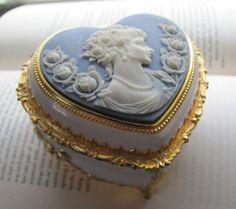 blue vintage cameo music box by MySoCalledVintage, via Flickr