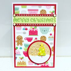 Doodlebug 's milk & cookies collection is simply too cute to resist! I bought a tall stack of their 12x12 papers and started with this design. So much sweet Christmas treats on 1 piece of paper. It's so colourful and cheery. Makes me a happy crafter!
