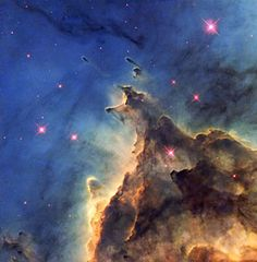 """Fiery Young Stars Wreak Havoc in Stellar Nursery"" - The NASA/ESA Hubble Space Telescope has imaged a violent stellar nursery called NGC 2174, in which stars are born in a first-come-first-served feeding frenzy for survival."