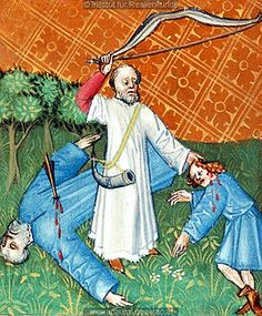 Lamech tuant Caïn (revanche de Dieu) (autre origine)