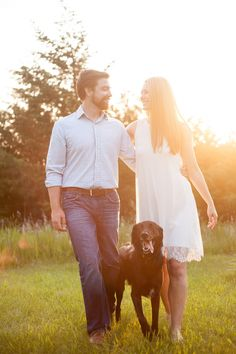 Cute engagement session with dog by Michelle Huber Photography