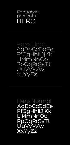 Hero - free font