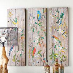 - Bright Bird Triptych - Set of 3 Assorted