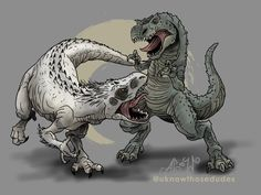 Request by Anonnim Sorry this one took so long, bud! Rarely check my notes. Two fictional apex predators going at it in a. Irex VS Vrex by AJvdW Jurassic World 3, Jurassic World Dinosaurs, Indominus Rex, Tyrannosaurus, All Godzilla Monsters, Dinosaur Illustration, Cute Food Drawings, Marvel Comics Art, Dinosaur Art