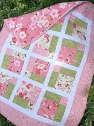 Image result for pink baby quilt patterns