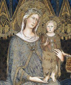Simone Martini - Maestà, detail (1315)