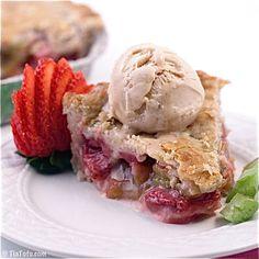 """Accidentally Vegan"" Strawberry-Rhubarb Pie... My Great Grandmother's recipe! BEST! :)"