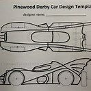 Free Printable Pinewood Derby Car Batmobile Template