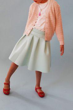 girls' pink  sandie  cardigan - WUNWAY