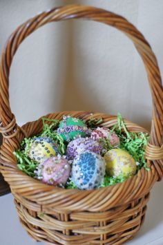 Vintage easter basket of mine from the 60s holiday easter ideas vintage easter eggs my mother in law made these in the 70s negle Images