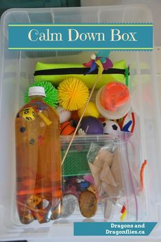 Calm Down Box Dragons and Dragonflies MoreTap the link to check out great fidgets and sensory toys. Check back often for sales and new items. Happy Hands make Happy People! Classroom Behavior, Preschool Classroom, Preschool Activities, Kindergarten, Autism Classroom, Motor Activities, Calm Classroom, Leadership Activities, Special Education Classroom