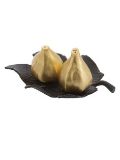 Fig Leaf Salt and Pepper Shaker Set (3 PC) by Michael Aram at Gilt