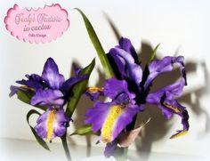 Iris in gum paste  by Jacky Ceron