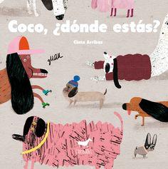 Cinta Arribas publica su primer álbum ilustrado con Sallybooks: Coco, ¿dónde estás? El niño protagonista busca a su perro Coco, lo ha perdido en el parque mientras paseaban. Coco no es largo ni aburrido, ni rosa ni travieso, ni pequeño ni miedoso, ni estirado ni nervioso, ni gordo ni risueño... ¿Le ayudas a buscarlo?