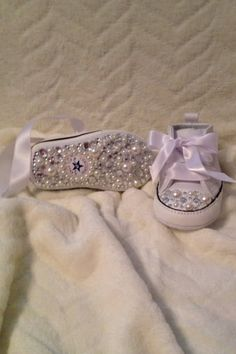 Baby Bling Converse by BelleNoe on Etsy, $95.00
