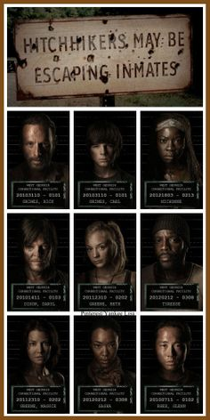 Rick Grimes - Carl Grimes - Michonne - Daryl Dixon, Beth Greene - Glenn and Maggie - Tyreese and Sasha - The Walking Dead