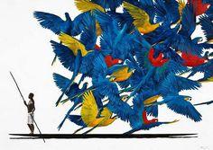 Pedro Ruiz(born in Columbia, lives in France) Modern Art, Contemporary Art, Colombian Art, Textile Prints, American Art, Art Museum, Amazing Art, Street Art, Art Pieces