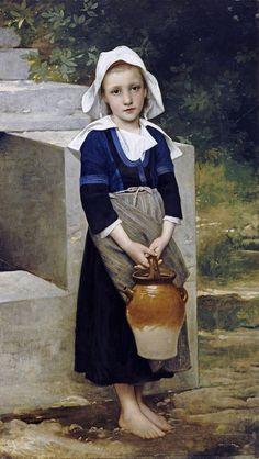 La Fille D'Eau by William-Adolphe Bouguereau