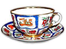 Russian Lubok Tea Cup & Saucer
