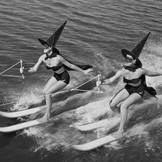 Water skiing Witches.1954