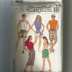 Simplicity Misses' Men's and Teen Boys' Jams in Three by NewAgain (Craft Supplies & Tools, Patterns & Tutorials, Sewing & Needlecraft, Sewing, sewing pattern, commerical, pattern, sew, Simplicity pattern, Simplicity, jams pattern, jams, medium jams)
