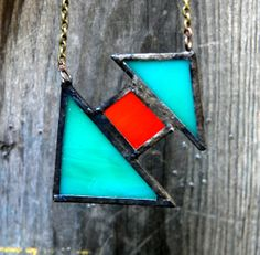 Beautiful Stained Glass Necklace by 2glassygirls on Etsy, $22.00