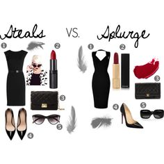 """Steals VS. Splurge"" by lisasweiback on Polyvore"