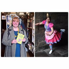 Here's the very talented Costume Designer Annie Hiner beside the very talented actor Julie Heatherill. Annie designed and made the main outfit for Princess Pumpalot. Our show this year is at Sweet Venues. #Fart2016