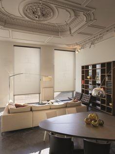 Copahome raamdecoratie rolgordijn semi transparant beige / La décoration de fenêtre. Stores enrouleurs beige semi transparent