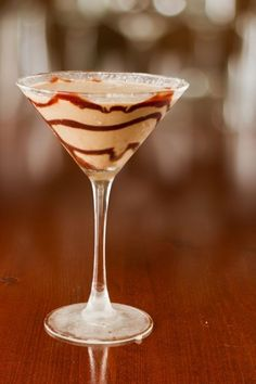 Schokoladen-Martini, natürlich geschüttelt, nicht gerührt.