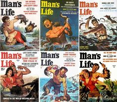 According to the 1950s magazine, a Man's Life involved a lot of Fighting Things Off.