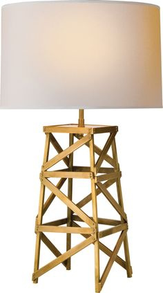 """Limited Production Design: 28"""" Tall Brass Oil Rig Lamp * Only Few Remaining"""