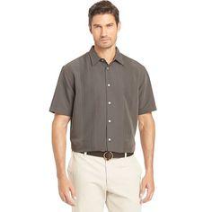 Big & Tall Van Heusen Classic-Fit Grid Button-Down Shirt, Men's, Size: