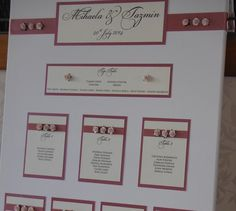 Dusky pink & cream vintage table plan from a recent wedding.