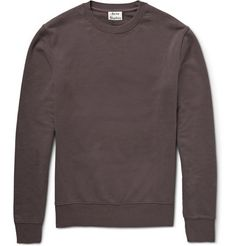 Acne Studios Casey Loopback Cotton-Jersey Sweatshirt   MR PORTER