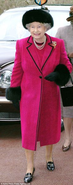 Britain's Queen Elizabeth II arrives at Douglas House, a respite care home for young people with life-limiting genetic conditions, in Oxford, Friday 20 February 2004