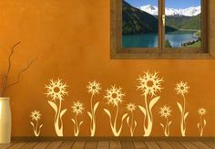 Wall Stickers Flowers and Trees Flora Abstracta - wall-art.com